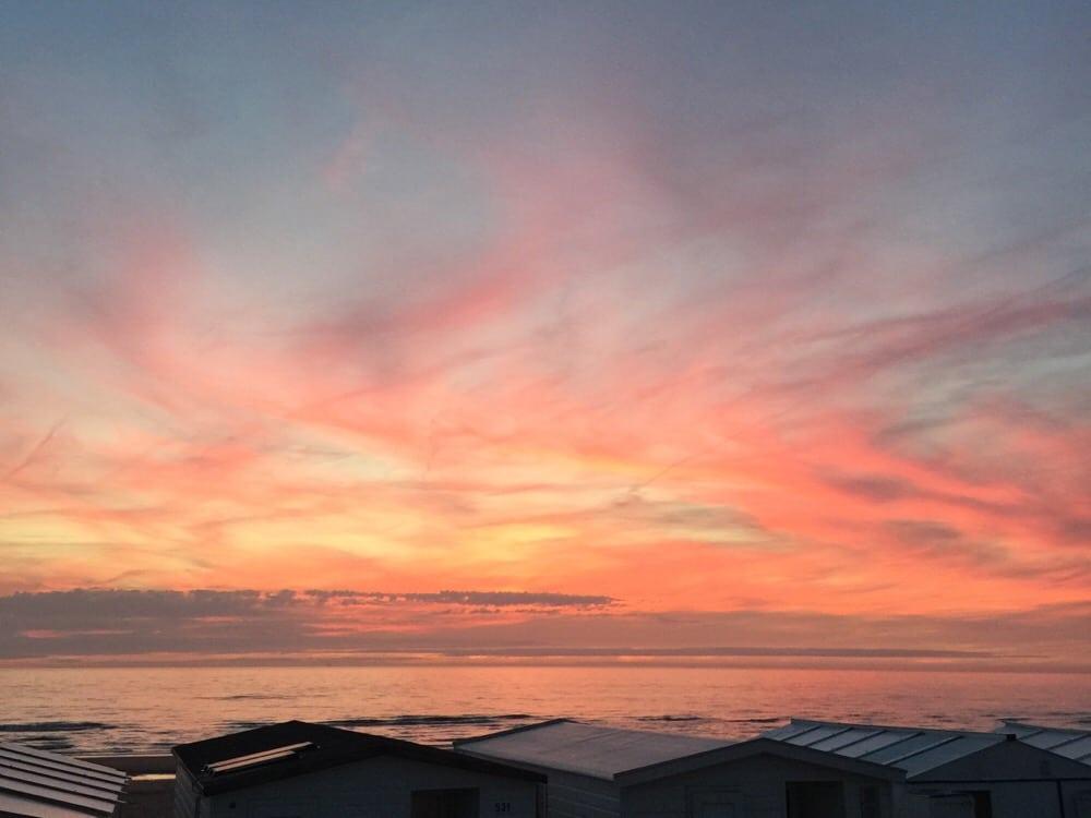 Sunset bij Bloemendaal